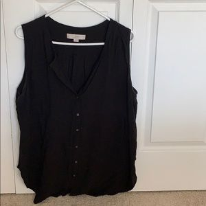 LOFT Tops - Sleeveless button down blouse